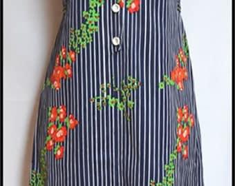 Handmade dress striped dress summer dress 60s summer dress mod dress 60s dress 70s dress  dress A line dress 60s clothing Kleid Robe Vestido