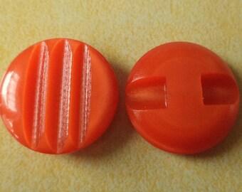 10 buttons orange 18mm (158) button