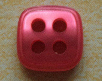 10 small red buttons 9mm (2191)