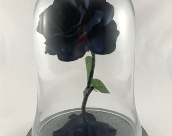Light Up Life Size Enchanted Rose Inspired by Beauty and the Beast NAVY
