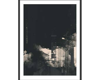 Abstract Art. Abstract Art Print. Steel City Art. Limited Edition. Burn The Midnight Oil. Art Gift.
