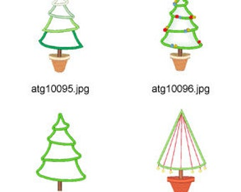 Christmas-Applique ( 11 Machine Embroidery Designs from ATW )  XYZ17E