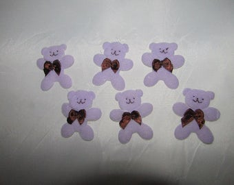 small  purple Bear Embellishments