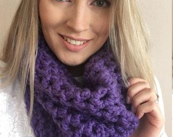 SALE Oversize Chunky Crochet Cowl