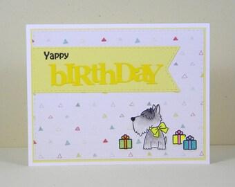 Scottie Dog Birthday Card, Scottish Terrier Birthday Card, Dog Birthday Card