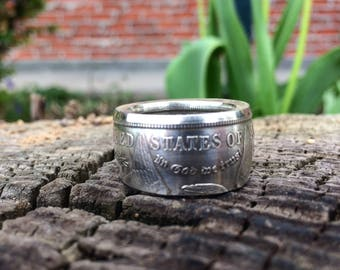Morgan Silver Dollar Coin Ring thick band