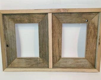 barn wood collage picture frame rustic home decor wood collage frame upcycled wood decor order custom sizing designs