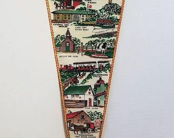 Pennsylvania Dutch Country, Lancaster, Pennsylvania  - Vintage Pennant