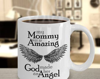 Mommy Guardian Angel Mug | Sympathy Mug | Bereavement Mug | Memorial Gift Mug | Grief Mug | Memorial Mug | Angel Wings | Remembrance Mug