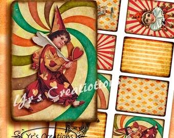 CIRCUS MANIA - ATC Cards - Instant Download - Scrapbooking - Atc - Aceo - Journaling - Mixed Media - Decoupage - Atc Printables