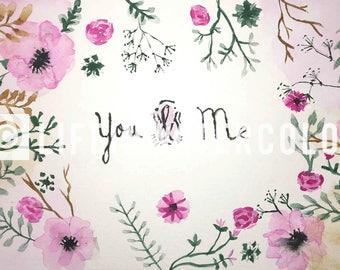 You & Me Watercolor
