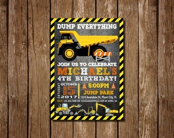 Construction Birthday Invitation, Construction Party Invitation, Construction Party, Construction Birthday, 4TH Birthday, 5TH Birthday,