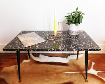 SOLD - Vintage marble effect top coffee table- Mid century - SOLD