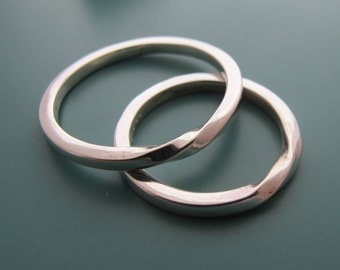 Silver Ring Set, Silver Wedding Band Set, Wedding Band Set, Promise Rings For Couples, Wedding Ring Set, Couples Ring, Rings For Couples