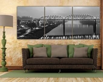 Tennessee River, Tennessee photograph, Chattanooga Art, Chattanooga, walnut street bridge, Chatt Art, Downtown Chatt, Chattanooga decor,