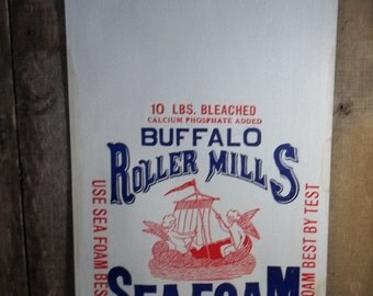 Vintage 10 Lb Paper Flour Bag Sack Buffalo Roller Mills Flour New Old Stock  From Buffalo, KY. O.W. Keith