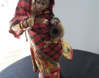 Vintage Collectible Doll Female From India  852