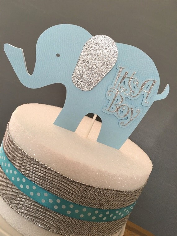 Elephant cake topper centerpiece baby