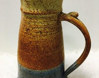 Tall Pottery Pitcher / Ceramic Pitcher / Vintage