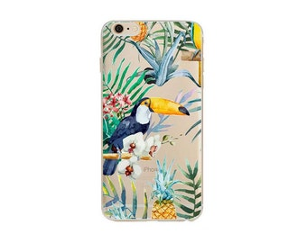 Toucan- iphone 6s case, clear iphone 6 case, clear iphone case ,clear - iphone 7s case, clear iphone 7 case, ,clear iphone cases
