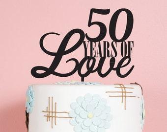 Years of Love Anniversary Cake Topper