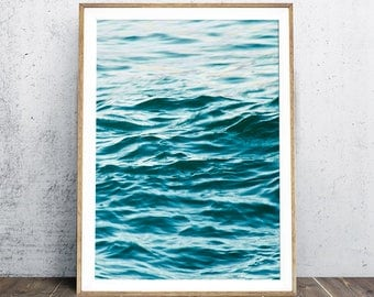 Ocean Print, Ocean Water Art Print, Ocean Surf Print, Ocean Wall Art, Seascape Print, Seascape Wall Art, Tropical Print, Ocean Photography