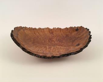 "Wooden Burl Bowl from Australia 6"" x 8"""