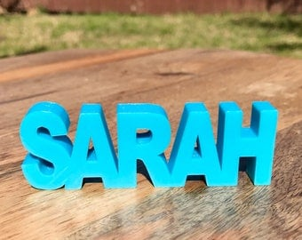 Custom Name Plate Standing 3D Printed Personalized
