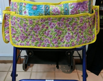 Spring Flowers Quilted Walker Cover