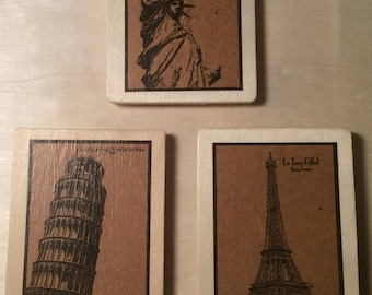 World Traveler Magnet Set of 3