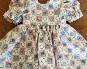Vintage Dress and Pantaloons for 11 inch, 12 inch and 13 inch baby doll/ Corolle baby doll