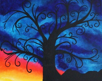 Sunrise Silhouette III Print
