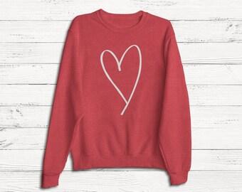 Valentine's Day Sweatshirt - Love - Anti Valentines - Heart Shape - Sweater - Women's Sweatshirt - February - Heart - Snuggle