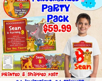 The Lion Guard Invitations Birthday Party Set, The Lion Guard Birthday Shirt