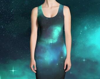 Galaxy Dress - Green