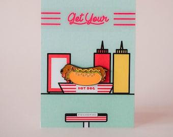 Hotdog Soft Enamel Pin