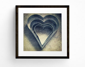 Kitchen Wall Art, Square Print, Love Heart Art, Romantic Art, Valentine Gift, Cooking Print, Fine Art Photograph, Restaurant Wall Art
