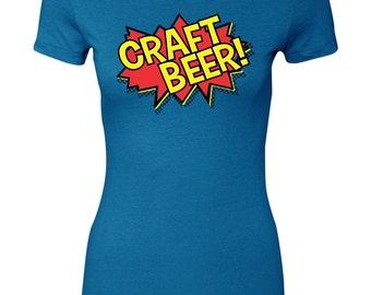 Womens 80's Comic Shirt Comic Book Tshirt Craft Beer Tshirt POW Shirt Totally 80's Women's Tshirt