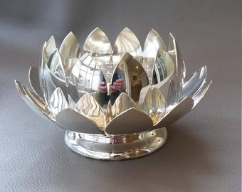 Silver 3 part rose bowl made by Reed & Barton, complete and in excellent condition