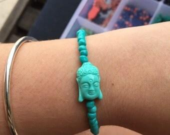 Teal Buddha Bracelet