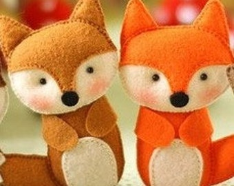 Felt fox ornament Gift for her Christmas home decoration with woodland animals decor for nature themed Baby shower