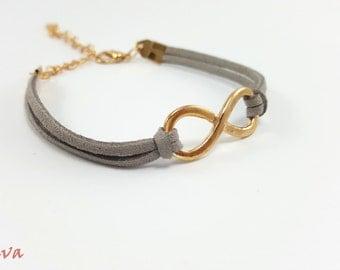 Infinity Bracelet Pendant white gold