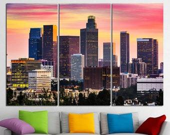 Los Angeles California Los Angeles Canvas Los Angeles skyline Los Angeles Wall Art Los Angeles Print Los Angeles Poster Los Angeles Photo