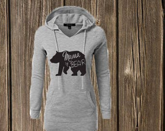 LONG LENGTH Mama Bear Hoodie