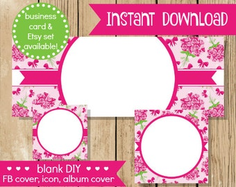 Blank diy facebook set pink gold hearts do it yourself blank diy facebook set pink flower do it yourself blank facebook cover pink solutioingenieria Image collections