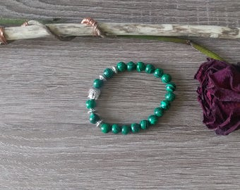 Malachite beaded Buddha Bracelet