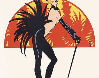 Vintage Moulin Rouge Cabaret  Poster A3 Print