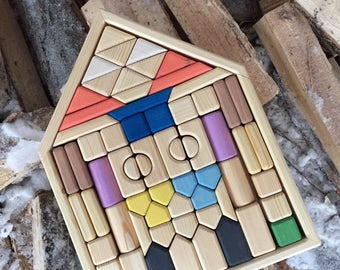"Blocks set ""Fairy Box"" A Montessori Inspired Wooden Learning Toy"