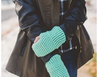 Stacey Fingerless Gloves, Fingerless Gloves, Crochet Gloves, Winter Gloves