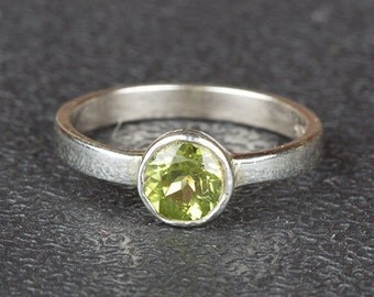 Peridot Ring, Statement Ring, Sterling Silver Ring, Fine Jewelry, Nickel Free Silver, August Birthstone Ring, Ring For Everyone, BJR-317-PRC
